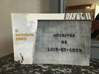 Catalogue inaugural bâtiment des ARCHIVES Départementales de LOIRE-ET-CHER 1965