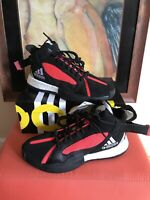 ADIDAS Posterize Basketball Shoes Core Black/Red/Silver Men's Size 9.5