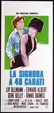 cartel de LA película EL SEÑORA UN 40 QUILATES ullmann,albert,kelly,barnes,