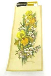 Vintage 1960's Patricia Nimocks Decoupage Art Print Donald Art Litho USA Flowers
