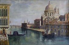 Quality Hand Painted Oil Painting Venetian Waterway View 24x36in