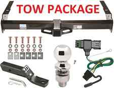 COMPLETE TRAILER RECEIVER TOW HITCH PACKAGE W/ WIRING GM / CHEVY SUV FAST SHIPP