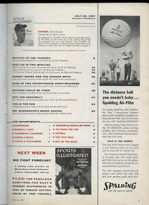 1957 Sports Illustrated Hank Bauer, New York Yankees, 5 Big Questions, 64pgs