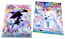 Lisa Frank Kids Coloring Book Whales Polar Bear Family Activity Books Set of 2