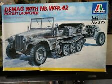 Italeri Demag With NB. WFR. 42 Rocket Launcher WWII Plastic Model Kit 1:35 Scale