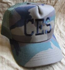 NEW US BDU/WOODLAND CAMOUFLAGE USAF CES CIVIL ENGINEERING SQUADRON BASEBALL CAP.