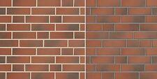 Klinker-Riemchen NF Naturbrand rot-bunt glatt Fassadenkleberiemchen Spaltklinker