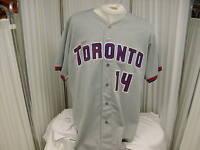 MLB Toronto Blue Jays #14 Gabe Gross Game Worn/Used Road Jersey Wilson Size 48