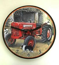 McCormick International Tractor Battery Operated Wooden Wall Clock