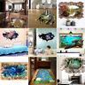 3D Bridge Floor/Wall Sticker Removable Mural Decals Art Living Room Home Decor
