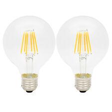 2x G80 E27 6W Glühbirne LED Edison Lampe Vintage Filament Birne 2300K Orange