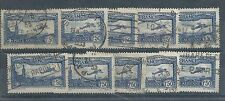 France - 1930 Airmail Issue - Ten used examples
