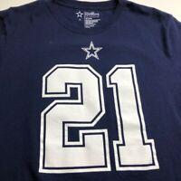 Dallas Cowboys 21 Elliott NFL Men's Short Sleeve T Shirt Small S Blue White Crew