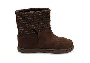 Toms Kids Baby Unisex Nepal Boots With Metallic Wool NWB