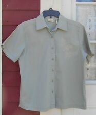 """Classic Elements Olive Green Short Sleeved Button Down Cotton Shirt Medium (43"""")"""