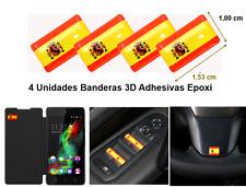 4 PEGATINAS BANDERA ESPAÑA 3D ADHESIVAS EPOXI