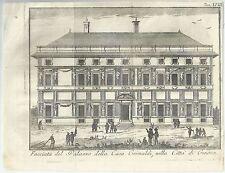 1751 GENOVA Salmon Facciata del palazzo della Casa Grimaldi
