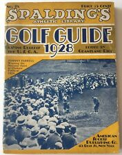 1928 Spalding's Golf Guide Johnny Farrell Cover