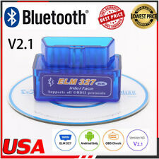 New Mini OBD2 OBDII ELM327 v2.1 Android Bluetooth Adapter Auto Scanner Torque WD