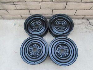 "RARE 65 66 Corvette 15 X 5.5"" JK  kelsey hayes Steel Wheels Set of 4  DATED 6/65"