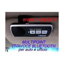 KIT VIVAVOCE MULTIPOINT per AUTO UFFICIO BLUETOOTH CLIP PARASOLE ALTOPARLANTE
