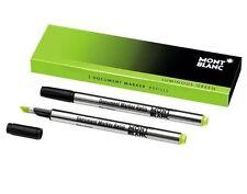 2 Mont Blanc Meisterstuck Document Marker Refills Green New In Pack 105169