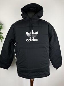 Adidas Originals Lightweight Quilted Overhead Trefoil Hooded Puffer Jacket