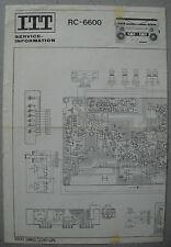 ITT rc-6600 radio recorder-schéma