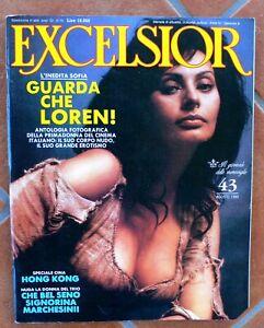EXCELSIOR N.43 DEL 08/1989 -   SOFIA LOREN -  RIVISTA CON ANGOLO TAGLIATO