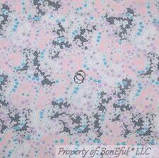 BonEful FABRIC Cotton Quilt Pink Gray Purple White Blue Flower Lace Girl S SCRAP