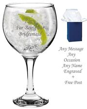 Personalised Engraved Gin Balloon Glass Gin & Tonic Birthday Fathers Day Gift
