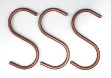 3er Set S Haken Farbe: kupfer Alu Aluhaken Küchenhaken Kleiderhaken copper