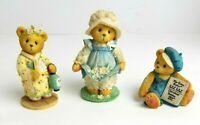 Lot of 3 Cherished Teddies Bear Machiko # 202312 Cub E Bear # CT001 Gail #103772