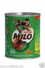 Nestle Milo Chocolate Malt Energy Drink 400 g Tin, Made in Singapore