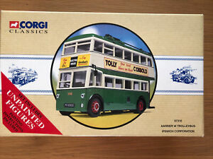 Corgi 1/50 Scale - 97316 Karrier W Trolleybus Ipswitch Corporation Model Bus Set