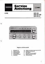 Service Manual-Anleitung für Grundig MR 100