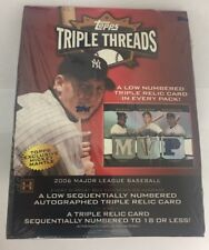 2006 Topps Triple Threads Factory Sealed Baseball Hobby Box HTF