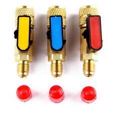 3pcs 3 Color/Set R410A Refrigerant Straight Ball Valves AC Charging Hoses Brass