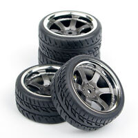 4pcs RC Car Tires&Wheel For HSP HPI 1:10 on Road Drift Racing Car PP0038+PP0150