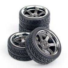 4pcs RC Car Tires&Wheel For HSP HPI 1:10 on Road Drift Racing Car PP0038+PP0150