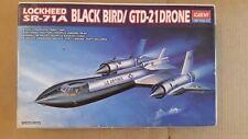 Academy Hobby Model Kits 1642 1/72 Scale Lockheed SR71A Black Bird GTD-21 Drone
