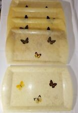 Beautiful Fiberglass Butterfly Serving Trays (5) Mid Century Modern