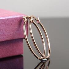 "SALE 9ct 9K "" Gold Filled "" Girl  22 x 33mm Oval Hoop Earrings Valentine E626"