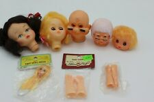 Lot of 8 Plastic Doll Making Parts Head, Arms (I-1)