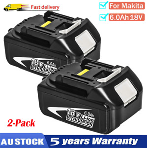 2X 18V 6.0AH LXT Lithium Battery For MAKITA BL1860 BL1830 BL1850 BL1840 Cordless