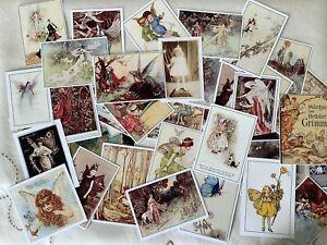 Junk Journal Ephemera Pack 20 Vintage Faeries & Fairy Tales Illustrations Cards