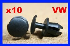10 VW plastic fastener retainer clips wiper nozzel light lamp grill panel fixing