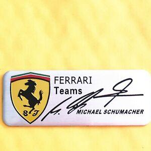 2pcs metal car badge logo Michael Schumacher aluminum sticker fit for Ferrari