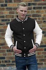 AWDis Varsity Letterman College Jacket - XS, S, M, L, XL, XXL - Baseball Jacket