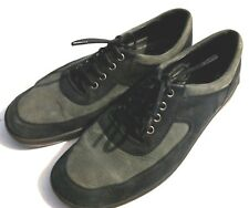 ROMIKA WOMEN'S SHOES SNEAKERS OXFORDS OLIVEBLACK SUEDE LEATHER LACE UP US10 EU41